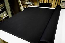 "KANVASTEX  BLACK 7OZ 100% COTTON CANVAS DUCK CLOTH FABRIC  56""W SOLD BY THE YARD"