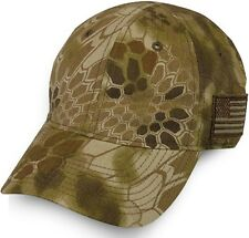 Kryptek Camo American Flag Cap, Highlander Brown