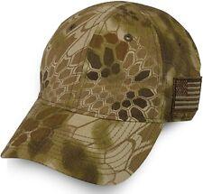 Kryptek Camo American Flag Cap, Highlander Brown