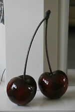 Gorgeous Contemporary Double Gloss Red-Cherry Ornament/Sculpture Indoor/Outdoor