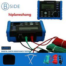 Digital Earth Ground Resistance Meter Voltage Tester Range 0-4K Ohm AER01