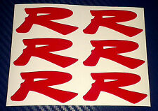 6 x Honda Type R Centre Cap Sticker Decals Civic Type R EP3 for 70mm centres