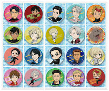 New Anime Yuri!!! on Ice  Badge Button Breast pin Brooch Collectibles 20pcs/set