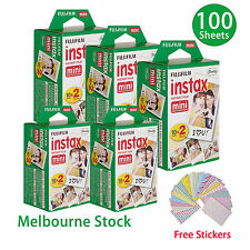 100 Sheet Fujifilm Instax Mini Film Fuji instant photos 7s 8 25 90 Polaroid 300