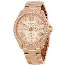 Fossil Cecile Multifunction Rose Dial Ladies Watch AM4483