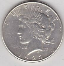 USA 1923S SILVER PEACE DOLLAR IN VERY FINE CONDITION OR BETTER