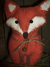 Primitive Sly Little Red Fox with Bushy Tail Shelf Sitter Ornie Tuck