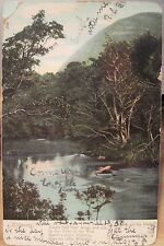 Irish Postcard KILLARNEY Ireland Song Meeting of Waters American News 1907 udb