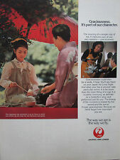 3/1981 PUB JAL JAPAN AIR LINES TEA THE JAPON STEWARDESS HOTESSE AIR ORIGINAL AD