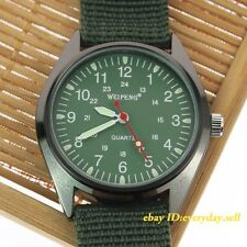 Sport Army Military Field Compass Dial Swiss Fabric Canvas Women's Wrist Watch