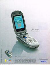 PUBLICITE ADVERTISING 085  2003  NEC   téléphone mobile N3411 SURF MACHINE