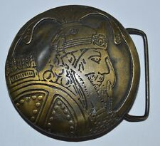 Vintage Circular Sagittarius Warrior Knight Boho Hippie Solid Brass Belt Buckle