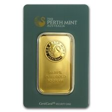 Lingot 50 grammes PERTH MINT or  24 carats 999.9