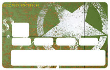 STICKER ARMY JEEP CARTE BANCAIRE CREDIT CARD CB SKIN AUTOCOLLANT STICKER CC070