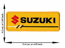 Yellow Suzuki Biker Rider Motorcycle Racing Team Logo Applique Iron on Patch