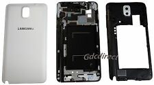 OEM Samsung Galaxy Note 3 N9005 Full Housing Cover Case Frame Camera Lens White
