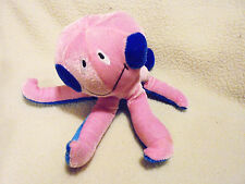 """SMALL PLUSH PINK & BLUE OCTOPUS APPROX 4 1/2""""...SOFT & CUDDLY"""
