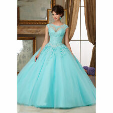 New Pageant Wedding Dress Formal Prom Party Quinceanera Dresses Ball Gown Custom