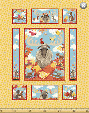 Susybee's Bruce, the Moose quilt Top 100% cotton fabric by the panel