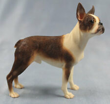 Boston Terrier figur hund Naturecraft hundefigur dogge alabaster brindle