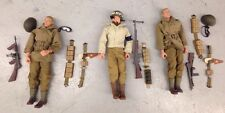 "Lot of (3) 1998 21st Century GI JOE Gijoe WWII Military Police MP 12"" Figures"