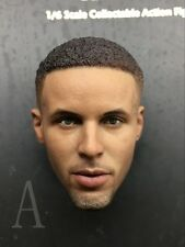 Custom 1/6 NBA Stephen Curry 2.0 Head Sculpt For  Hot Toys Enterbay Jordan Body