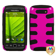 For BlackBerry Torch 9850 9860 Hybrid FISHBONE Case Phone Cover Rose Pink Black