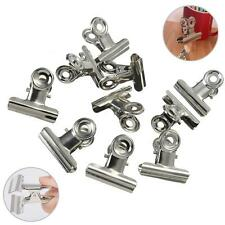 10x Metal Silver 31mm Bulldog Clips Money Letter Paper File Clamps Stationery