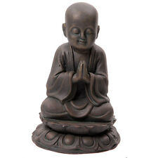 Large Garden Ornament Bronze Effect Buddha Monk Statue Figure Feature Oriental