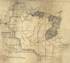 1882 Map of the Middleton Coal Lands Fayette County West Virginia C & O Rail