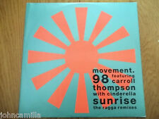 "MOVEMENT 98 - SUNRISE (THE RAGGA REMIXES) 12"" RECORD / VINYL - CIRCA - YRTX 51"