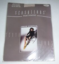 NEW SENSATIONS PANTYHOSE WOMENS SIZE EXTRA WIDE QUEEN COLOR BONE #291