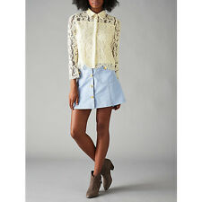 NEW + TAGS * DARLING * LONDON SIBYLLA CREAM LACE SHIRT SZ 8 RRP £59 NEXT DAY DEL