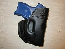 RUGER LC9 WITH CT LASER, FORMED LEATHER BELT HOLSTER, RIGHT HAND