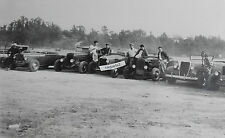 "12 By 18"" Black & White Picture  gathering of Ford Roadsters 1940's"