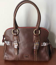 Dooney & Bourke Florentine Leather Domed Buckle Satchel~8L461CS~Chestnut