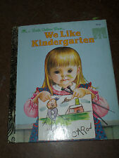 1992 LITTLE GOLDEN BOOKS ELOISE WILKIN WE LIKE KINDERGARTEN CHILDREN BOOK