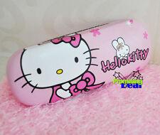 Brand New Cute Hello Kitty Hard Shell Glasses Eyeglass Case Box Holder Kids Gift