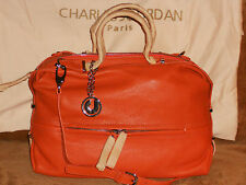 Charles Jourdan Paris Janet TZ Shoulder Handbag Orange Leather NWT MSRP 425.00