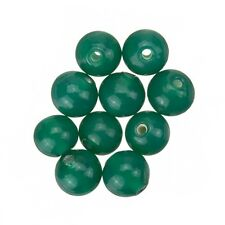 Transparent Green Round Glass Beads 8mm Pack of 10 (A39/2)