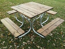 Aluminum picnic table frame with stainless steel hardware...