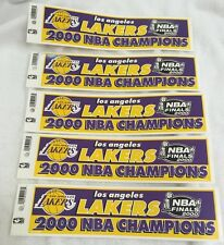 2000 NBA Lakers Championship Bumper Stickers Brand New with Tags Lot of (5)