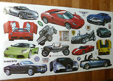SPORTS FLASHY CARS WALL STICKER DECAL CHILDREN/NURSERY/KIDS/GIRLS/BOYS ROOM