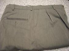 Men's Pants HAGGAR BLACK LABEL Size 34 W X 34 L BROWN POLY WOOL BLEND EXC