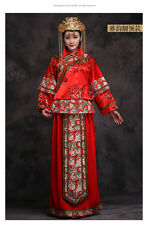 Chinese Style Wedding Tea Ceremony Red Dress XS-S 2-psc