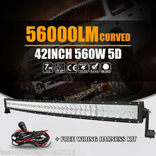 "5D CREE 42""INCH CURVED LED WORK LIGHT BAR FOG LAMP OFF ROAD SPOT FLOOD 40"" / 45"""