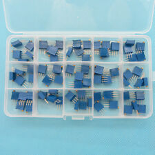 15Value 3296W Multiturn Variable Resistor Trimmer Potentiometer Assortment Kit