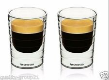 2pcs Nespresso coffee mug espresso coffee cup thermal glass double wall 85ml