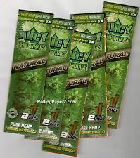 5 Packs JUICY HEMP WRAPS - NATURAL FLAVOR - Flavored Cigarette Rolling Papers