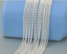 bulk Wholesale 10pcs lots 20 inch 1.5mm silver plated Beads Ball Chain Necklace